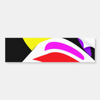 Abstract Contrast Bumper Sticker