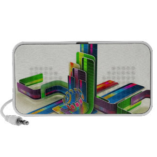 Abstract Cool Access The Colours Travel Speakers