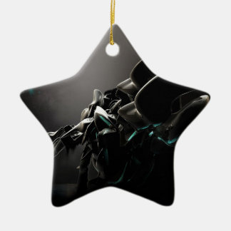 Abstract Cool Black Charms Ceramic Star Decoration