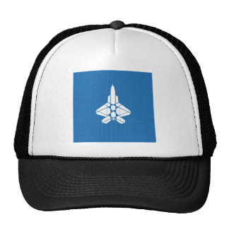 Abstract Cool Blue Jet Combat Hats