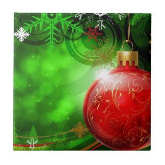 Abstract Cool Christmas Spirit Ceramic Tiles