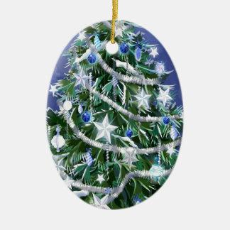 Abstract Cool Christmas Tree Times Christmas Ornament