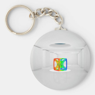 Abstract Cool Colour Cube Keychain