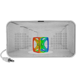 Abstract Cool Colour Cube Portable Speakers