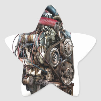 Abstract Cool Engine Heart Machine Sticker