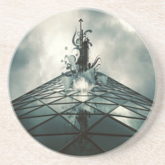 Abstract Cool Fantastic Glass Building Drink Coaster