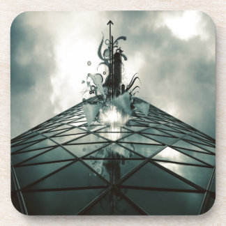 Abstract Cool Fantastic Glass Building Beverage Coaster