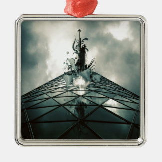 Abstract Cool Fantastic Glass Building Christmas Ornaments