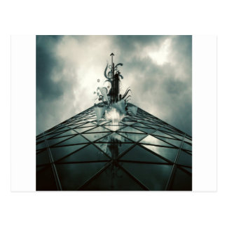 Abstract Cool Fantastic Glass Building Postcard