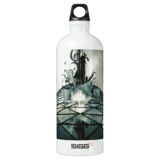 Abstract Cool Fantastic Glass Building SIGG Traveler 1.0L Water Bottle