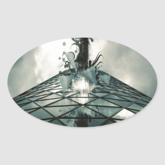 Abstract Cool Fantastic Glass Building Stickers