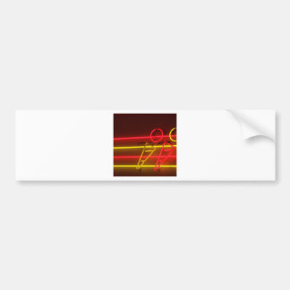 Abstract Cool Ice Cream Neons Bumper Stickers