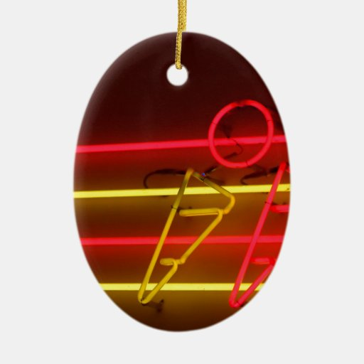 Abstract Cool Ice Cream Neons Christmas Tree Ornament