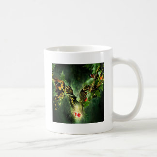 Abstract Cool Ladybird Butterfly Vines Basic White Mug