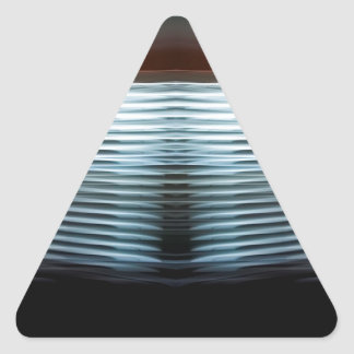 Abstract Cool Layers Of Light Triangle Sticker