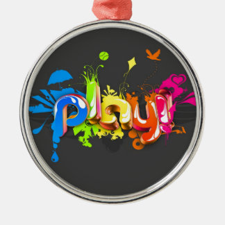 Abstract Cool Many Colours Make Play Christmas Tree Ornament