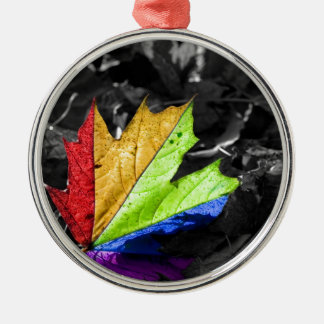 Abstract Cool Maple Leaf Colours Christmas Tree Ornament