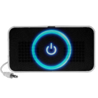 Abstract Cool Onto Blue Power Mini Speaker