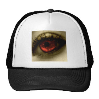 Abstract Cool Red Eye Mesh Hat