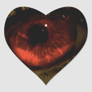 Abstract Cool Red Eye Heart Stickers