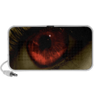 Abstract Cool Red Eye Mini Speaker