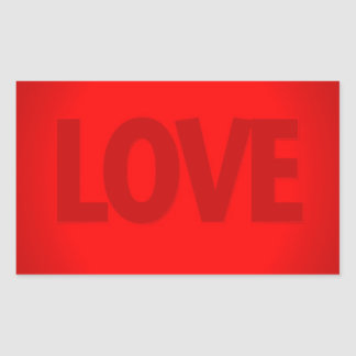 Abstract Cool Red Love Rectangular Sticker