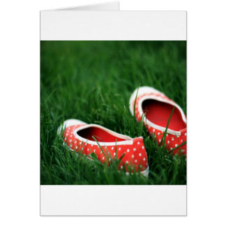 Abstract Cool Red Slip Shoes Greeting Card
