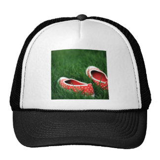 Abstract Cool Red Slip Shoes Mesh Hats