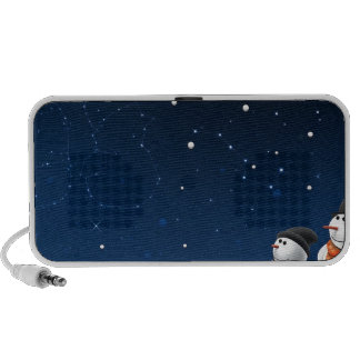 Abstract Cool Starry Snow Land PC Speakers