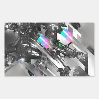 Abstract Cool Transformation Robotics Rectangular Sticker