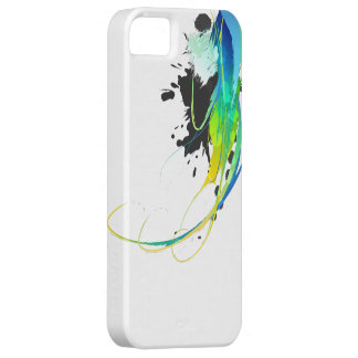 Abstract cool waters Paint Splatters Case For The iPhone 5