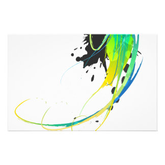 Abstract cool waters Paint Splatters Custom Stationery