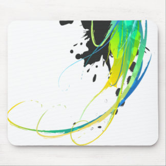 Abstract cool waters Paint Splatters Mouse Pads