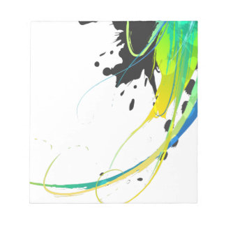 Abstract cool waters Paint Splatters Notepad