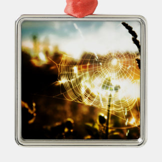 Abstract Cool Wheat Webs Of Fire Christmas Ornament