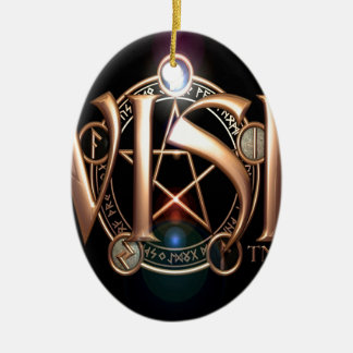 Abstract Cool Wish Logo Ornament