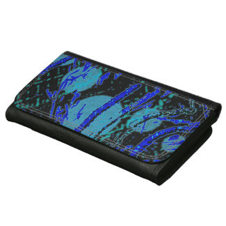 Abstract Cosmic Funky Wild Blue Pattern Wallet
