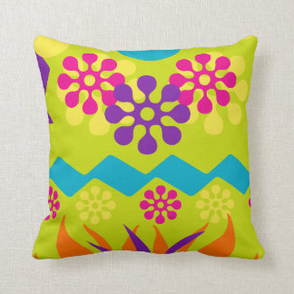 Abstract cotton throw pillow