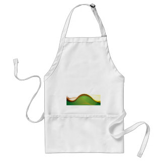 Abstract country view standard apron