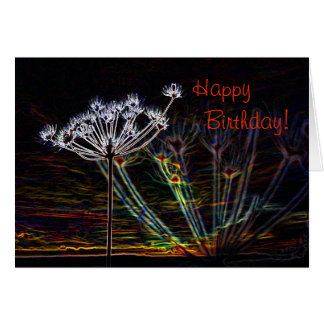 Abstract Cow Parsley birthday card