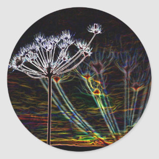 Abstract Cow Parsley stickers
