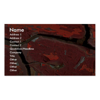 Abstract Cracked Pack Of Standard Business Cards