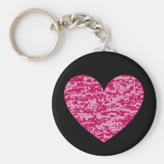 Abstract Crackle Heart Key Chain