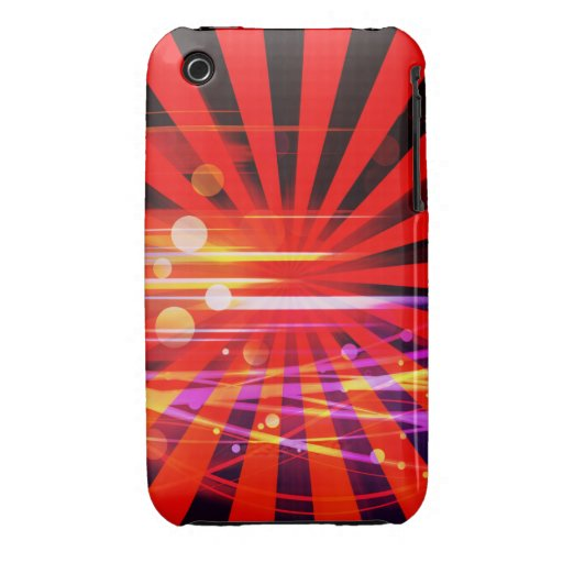 Abstract Crazy Light Ray Star Burst Pattern Case-Mate iPhone 3 Cases