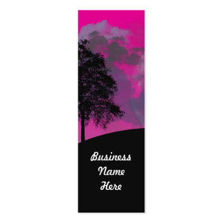 Abstract Crimson Moon Bookmark Business Cards
