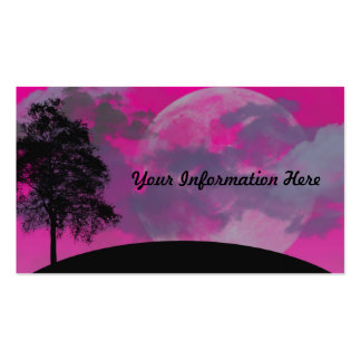 Abstract Crimson Moon Business Cards