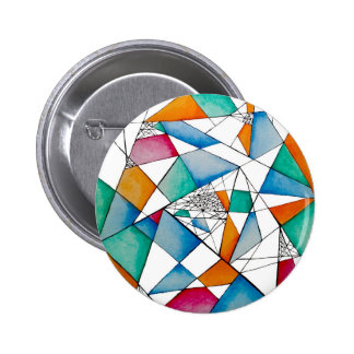 Abstract Criss Cross 6 Cm Round Badge