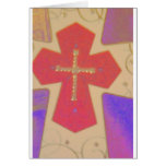 abstract cross greeting card