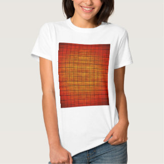 Abstract Crosshatch Orange and Black T-shirt