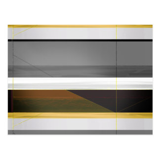 Abstract Crown and Yellow Postcard